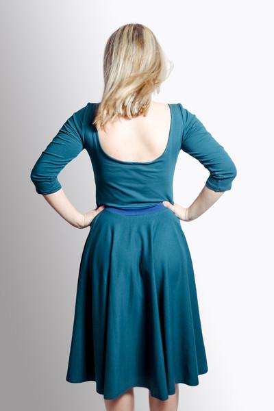 Bio Kleid Vrida smaragd/ blau 3