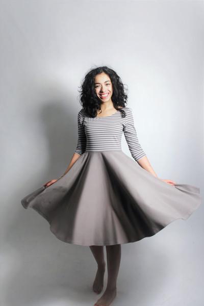Bio Kleid Vrida cinder / Streifen - 3