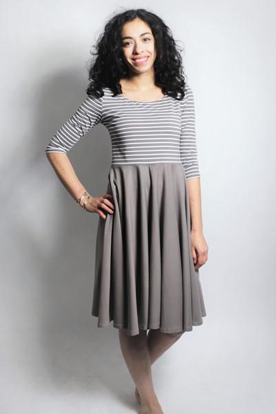 Bio Kleid Vrida cinder / Streifen - 1