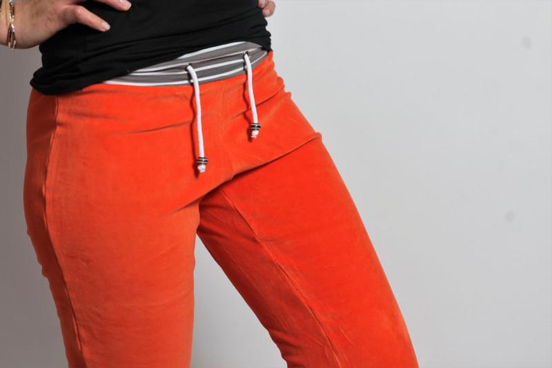 Bio Nickihose orange /cinder Streifen Perle - 2