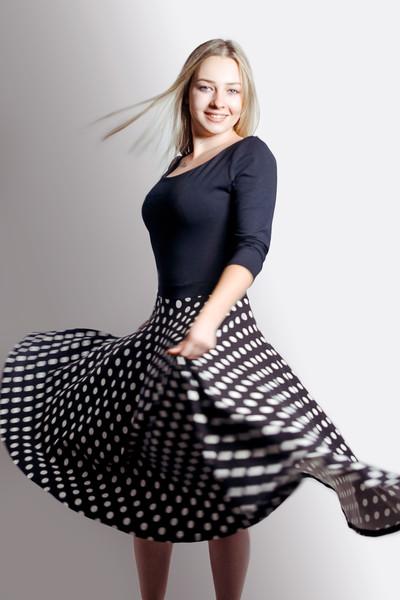 Bio Kleid Vrida schwarz / gepunktet - 2