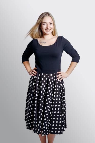 Bio Kleid Vrida schwarz / gepunktet