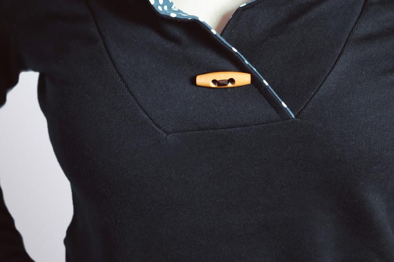 Bio Sweater Kraja schwarz kleine Punkte