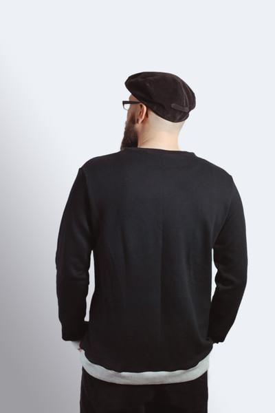Bio Sweater Heada schwarz Bündchen hgrau - 2