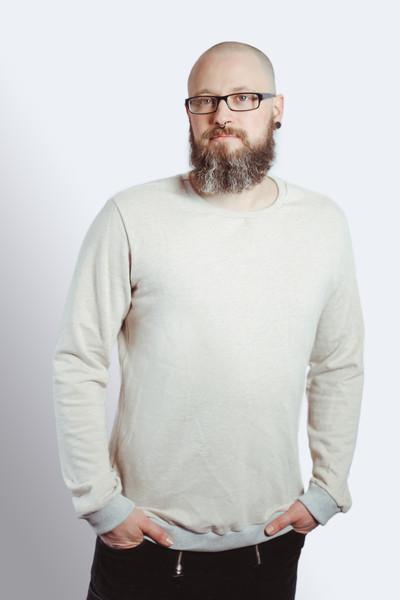 Bio Sweater Heada creme meliert Bündchen - 1