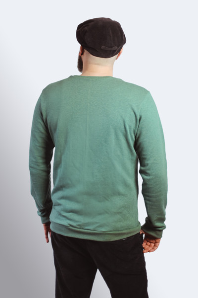 Bio Sweater Heada grün meliert 2