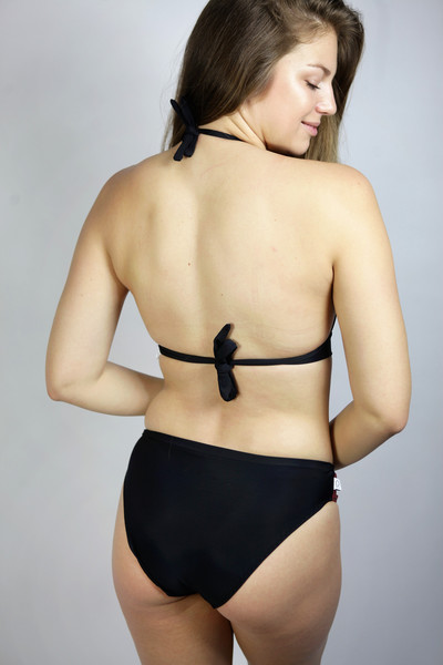 Recycling Bikini Fjorde schwarz/ Jacquard rot - 3
