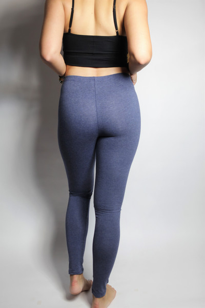 Bio Leggings blau meliert 2