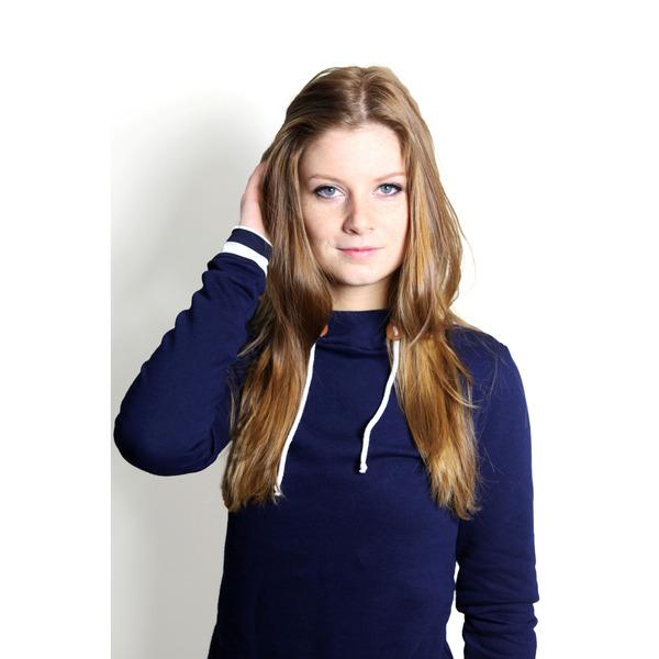 Bio Hoodie Marize dunkelblau / Streifen - 1