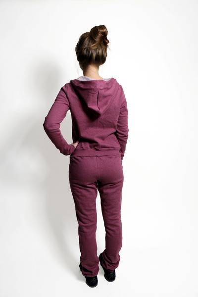 Bio Jumpsuit Pitique rot melange - 2