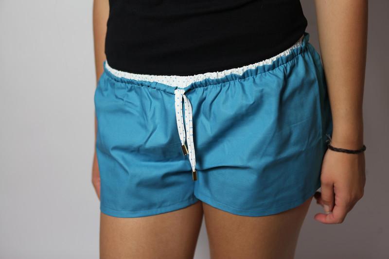 Bio Shorts Smölla blau/ Punkte 2