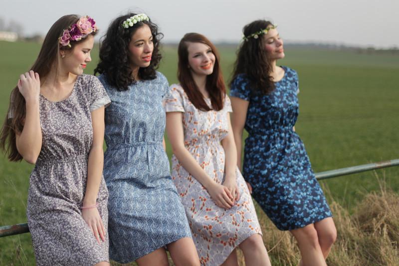 Bio Kleid Somrig Feldblumen braun 4