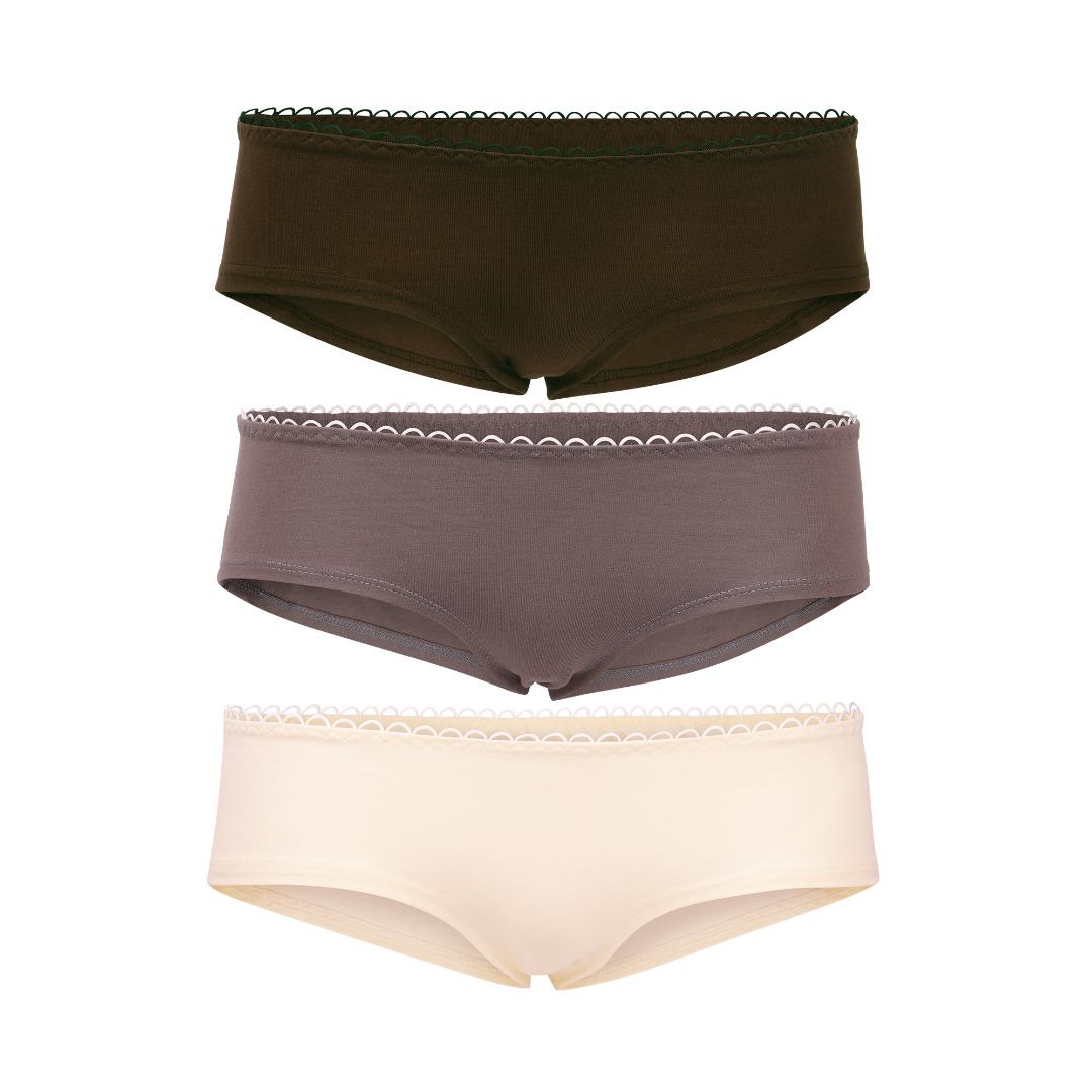 Hipster panties set of elements: Earth