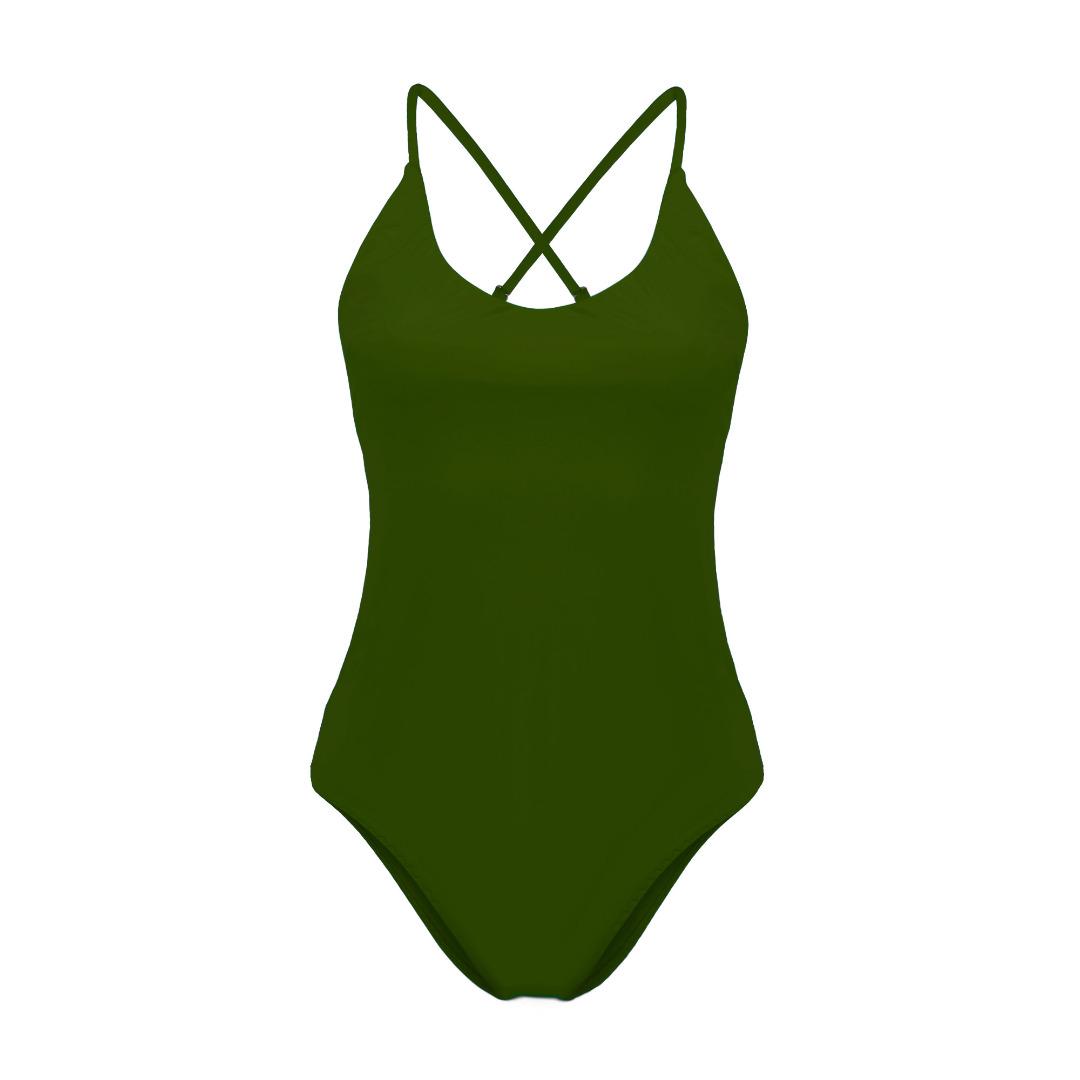 Recycling Badeanzug Fr ya oliv 3
