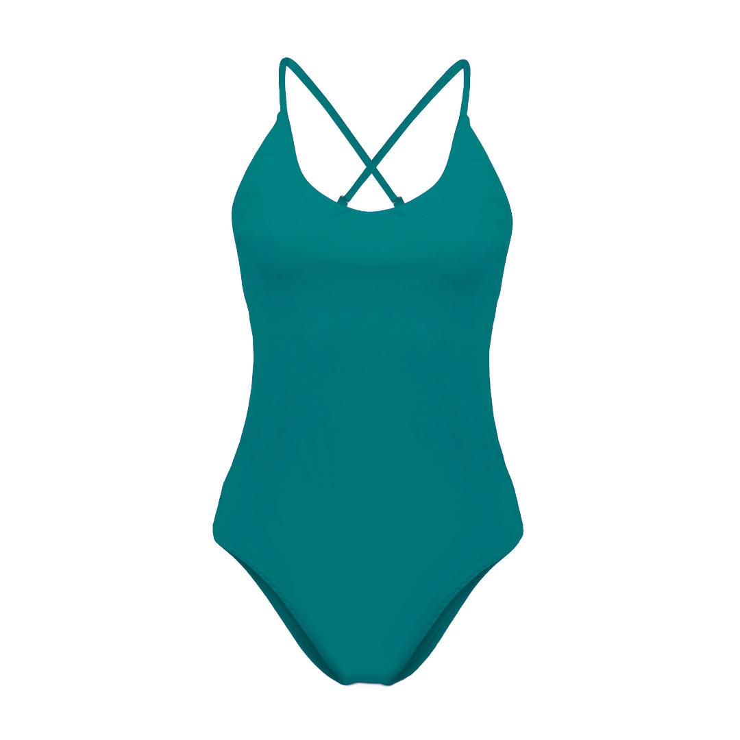 Recycling Badeanzug Fr ya smaragd