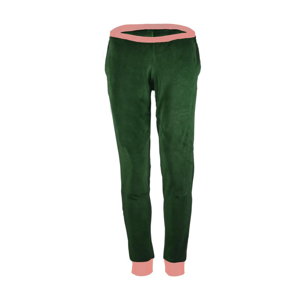 Bio Nickihose Hygge smaragd grün pink