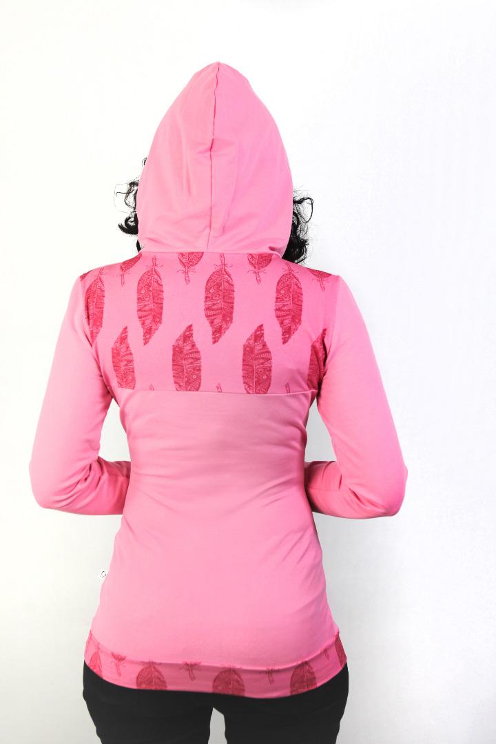 Bio Hoodie D rosa Federn rosa - 2