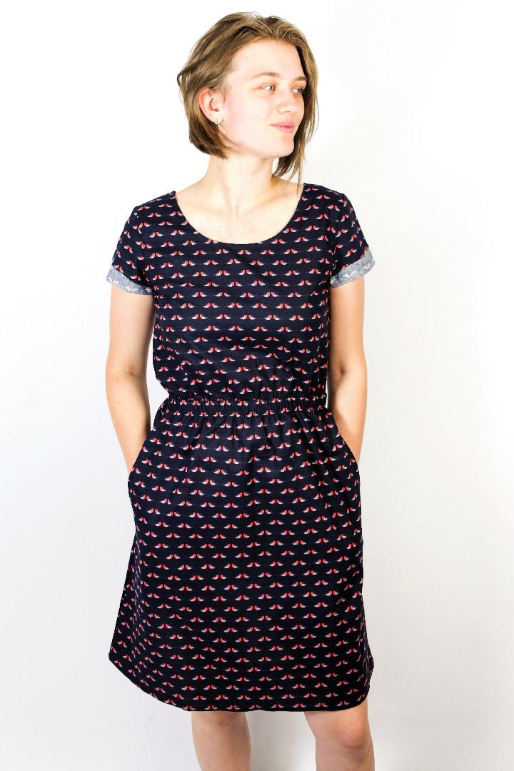 Bio Kleid Somrig Robin blau 2