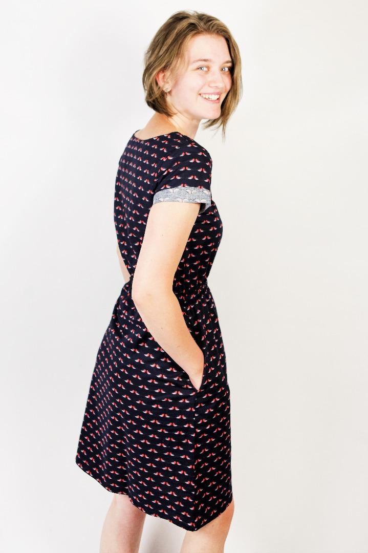 Bio Kleid Somrig Robin blau - 1