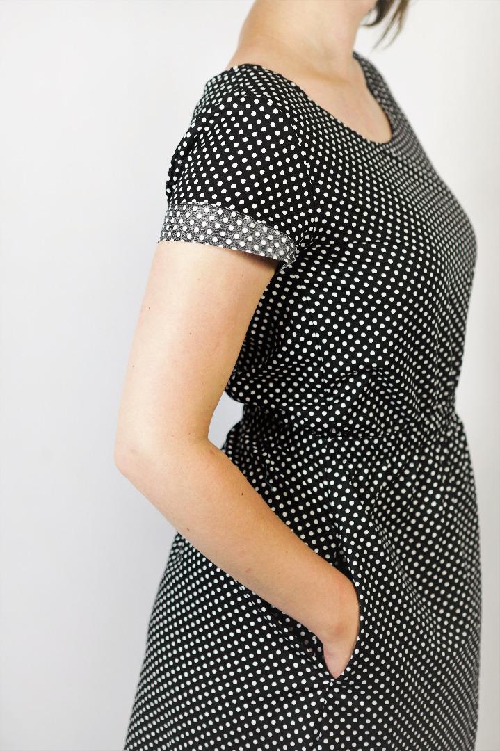 Bio Kleid Somrig schwarze Punkte 2
