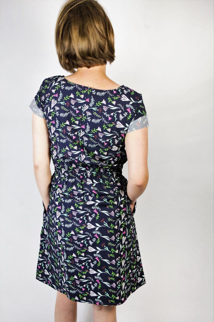 Bio Kleid Somrig Blumenstrauß blau - 4