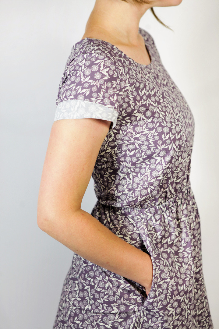 Bio Kleid Somrig Feldblumen braun 2