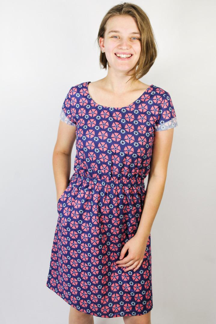 Bio Kleid Somrig Blossom blau - 1