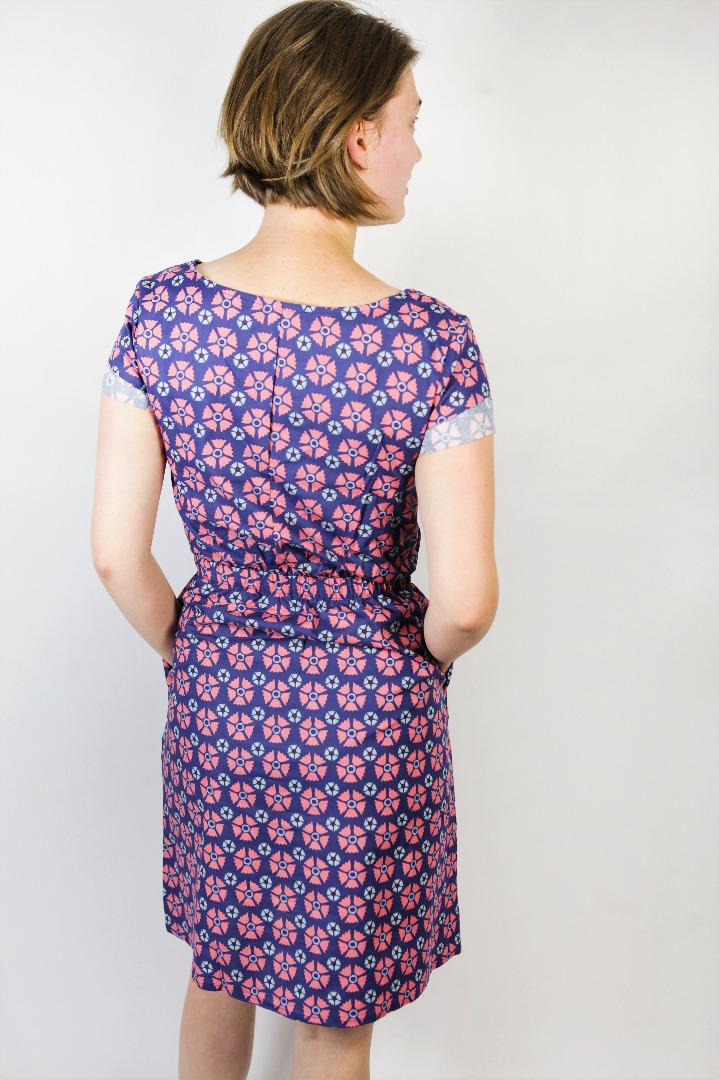 Bio Kleid Somrig Blossom blau 3