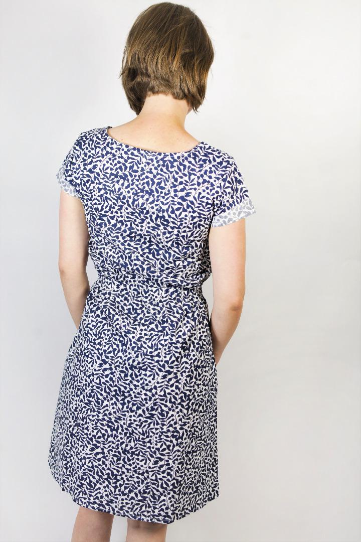 Bio Kleid Somrig Lorbeer blau 3