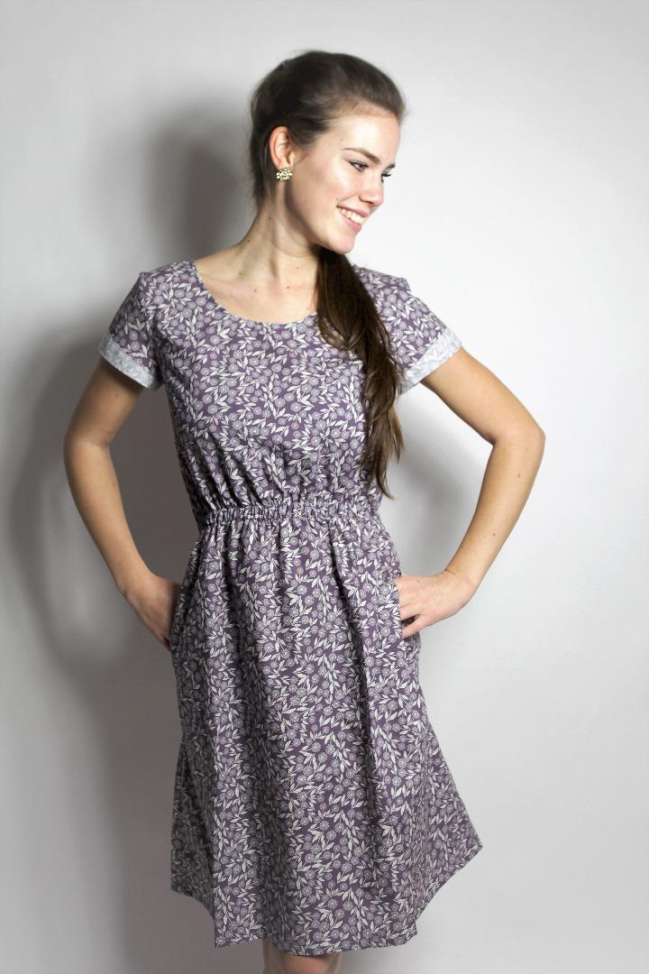 Bio Kleid Somrig Feldblumen braun 5