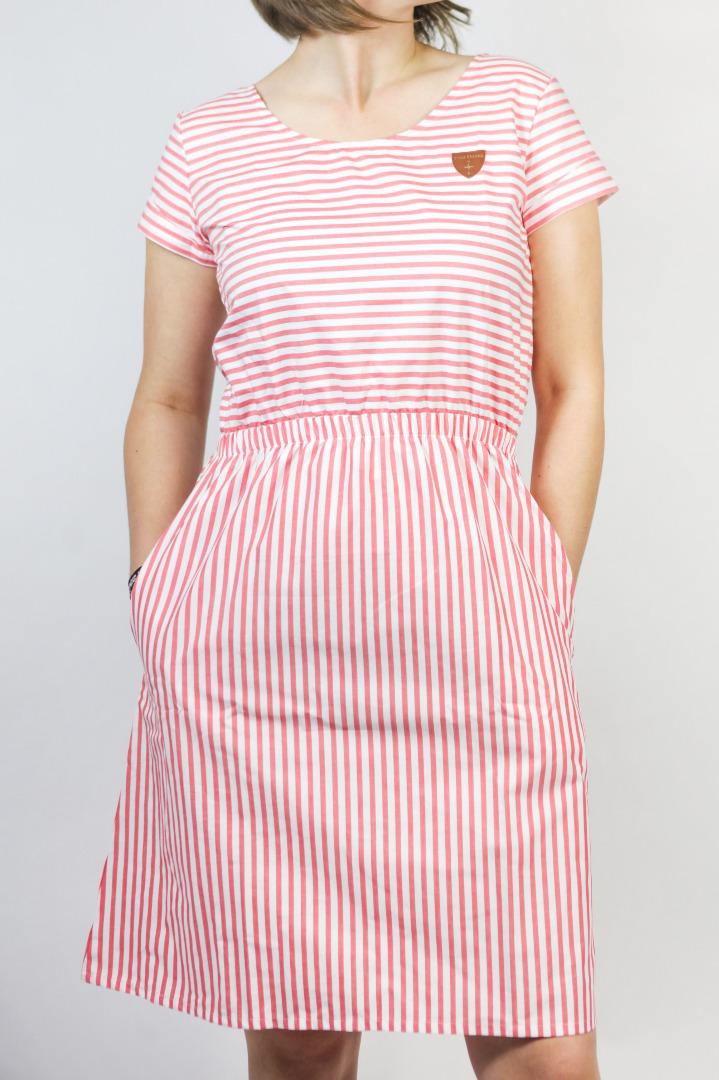 Bio Kleid Somrig Sommerstreifen rot weiß - 2