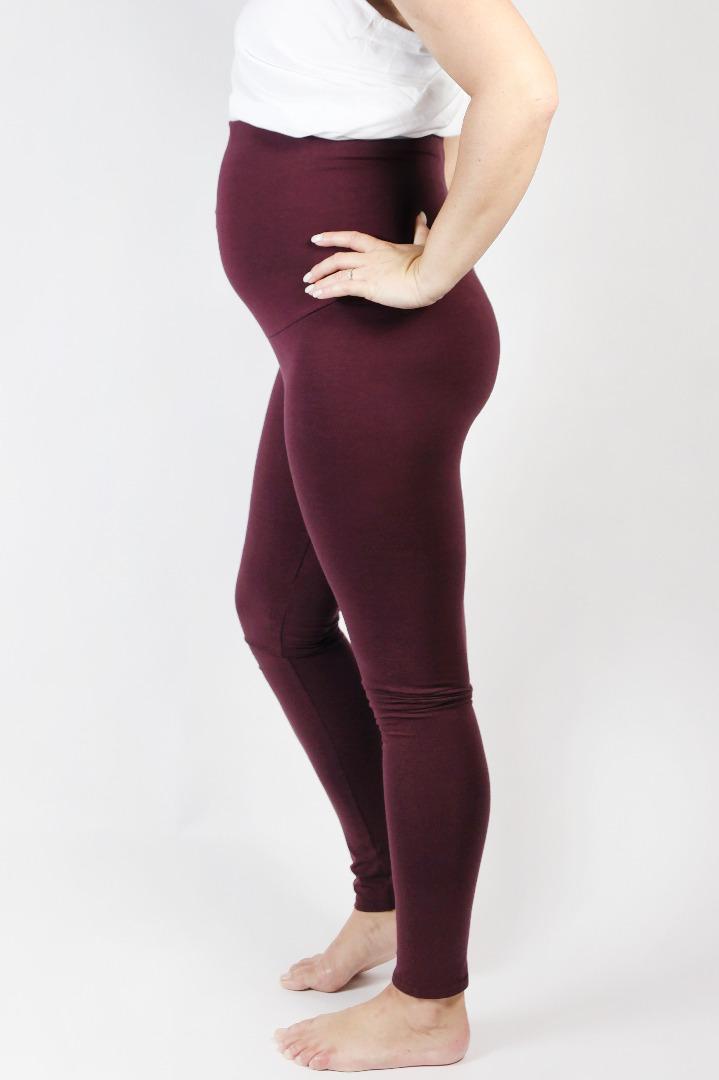 Bio Leggings Mama aubergine 2