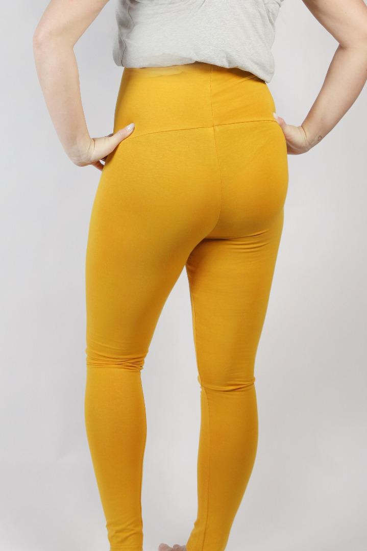 Organic leggings Mama saffron 3