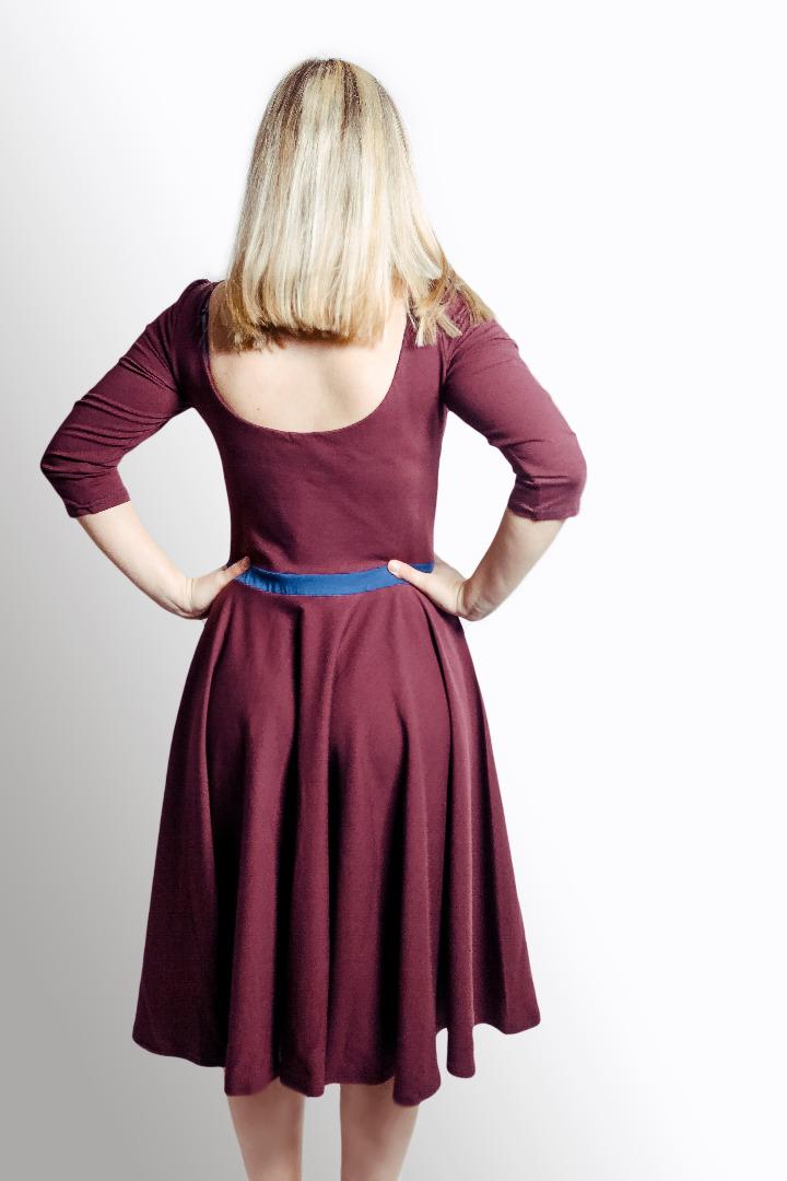 Bio Kleid Vrida aubergine / blau - 4