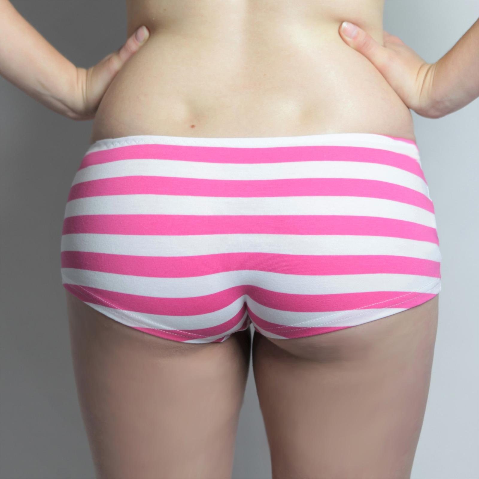 Bio Panty lang Streifen pink 2