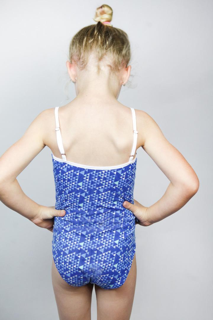 Bio Badeanzug Madri Petite triangel blau