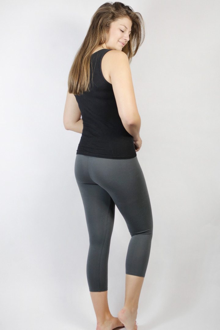 Bio Capri Leggings anthrazit 3