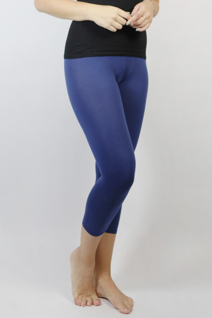 Bio Capri Leggings blau 2