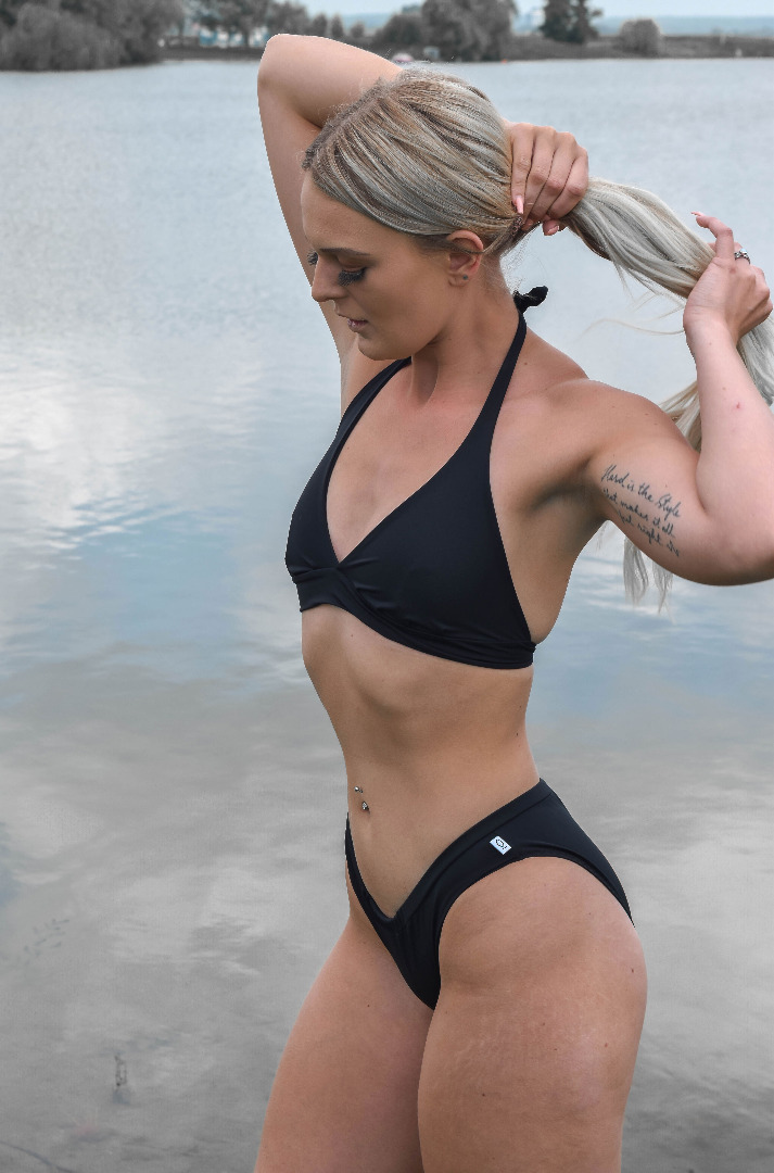 Recycling Bikini-Top Fjorde schwarz Top Pants
