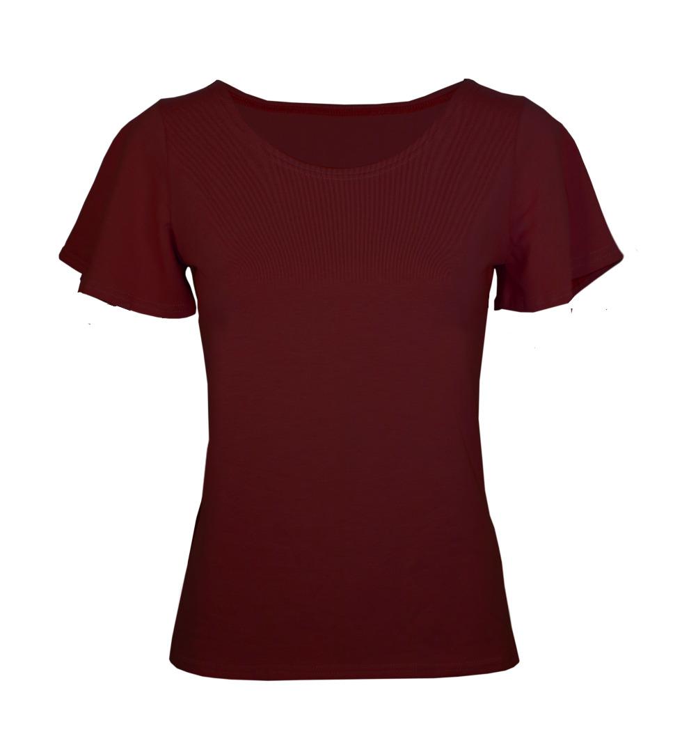 Bio T-Shirt Vinge aubergine rot