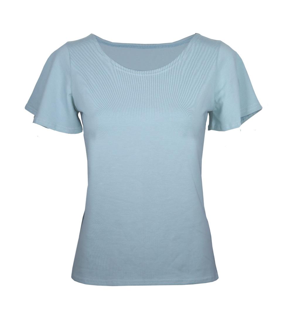 Bio T-Shirt Vinge lichtblau