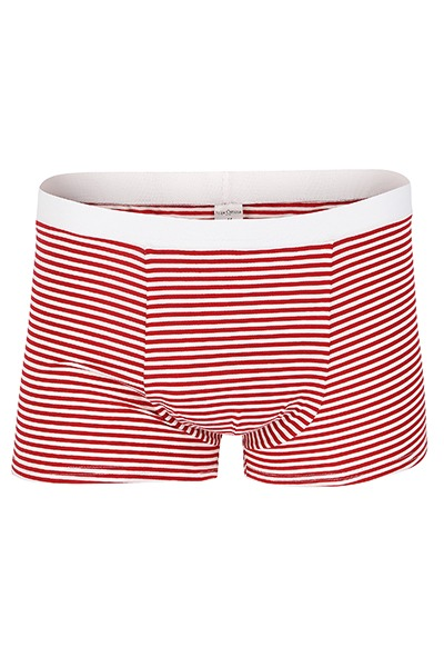 Bio Trunk Shorts / Retro Shorts rot- weiß