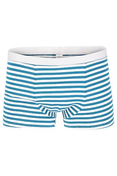 Bio Trunk Shorts / Retro Shorts petrol- weiß