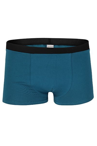 Organic men s trunk boxer shorts teal