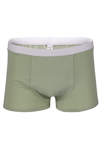 Organic men s trunk boxer shorts matcha