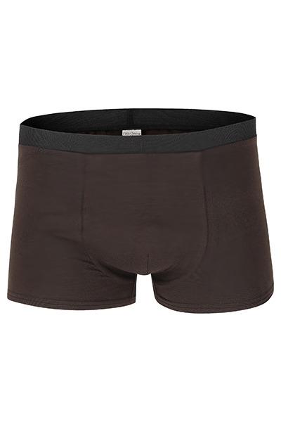 Organic men s trunk boxer shorts brown