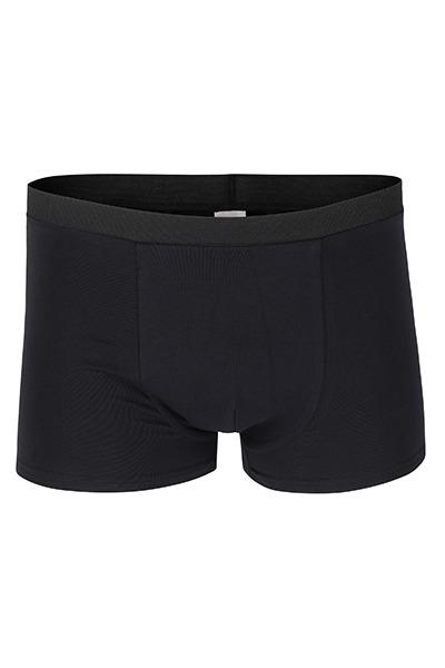 Organic men s trunk boxer shorts black