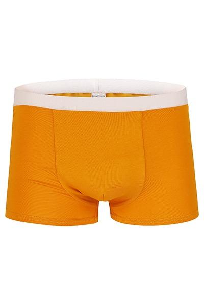 Organic men s trunk boxer shorts saffron