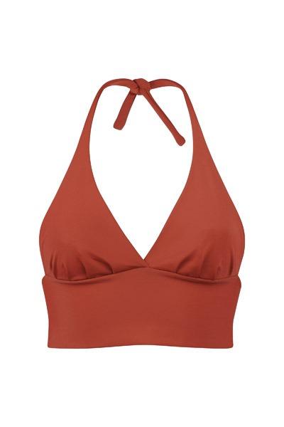 Recycling bikini top Fjordella rust