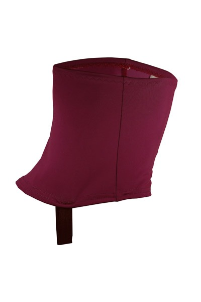 Recycling trail gaiters tinto red